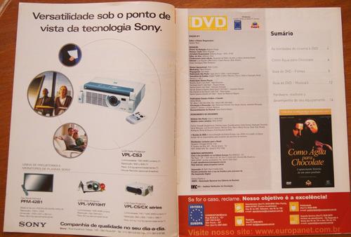 revista do dvd nº 7 como água para chocolate