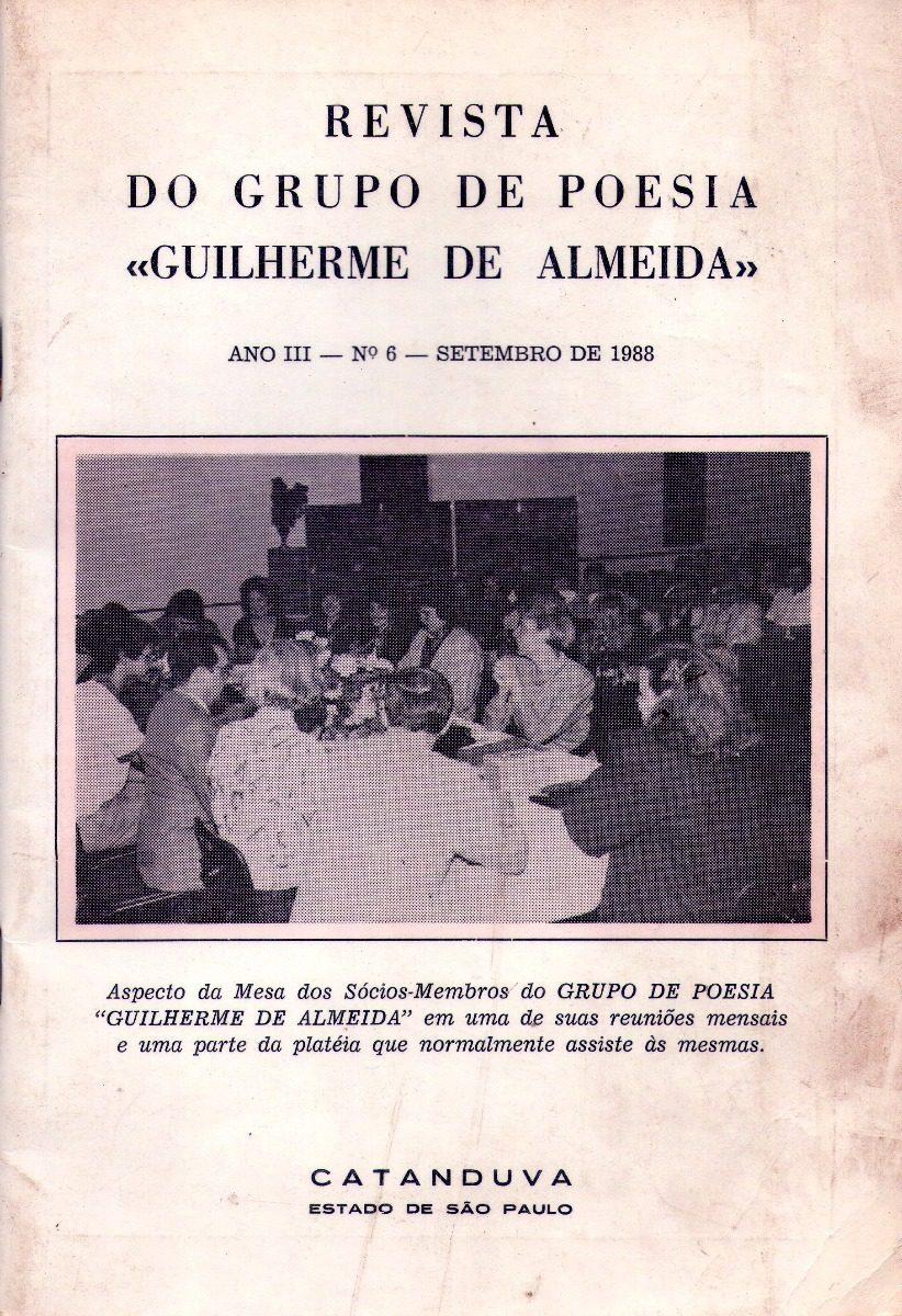 Revista Do Grupo De Poesia Guilherme De Almeida Catanduva