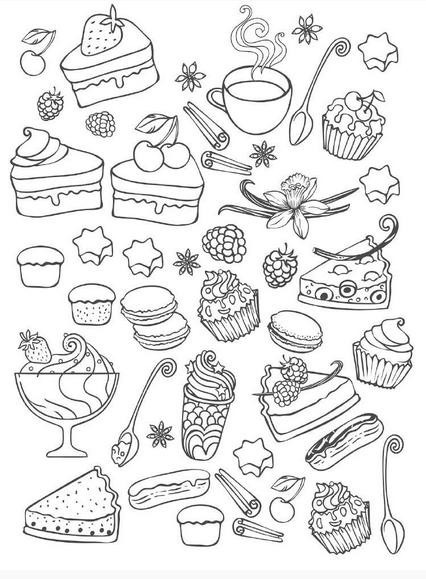 Revista Docinhos Magicos Desenhos Para Colorir Anti Estresse R