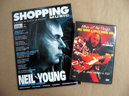 revista e dvd neil young & crazy horse live / frete à cobrar