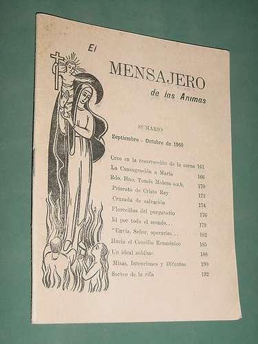revista el mensajero de las animas 454 sep60 religion