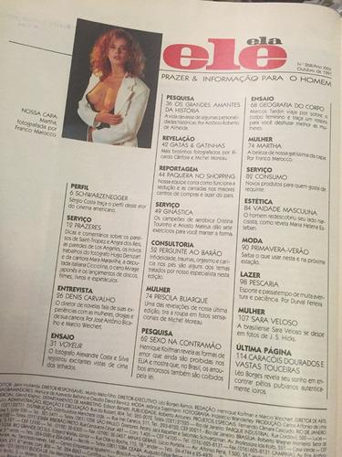 revista ele e ela/1991 - mara maravilha/denis/martha