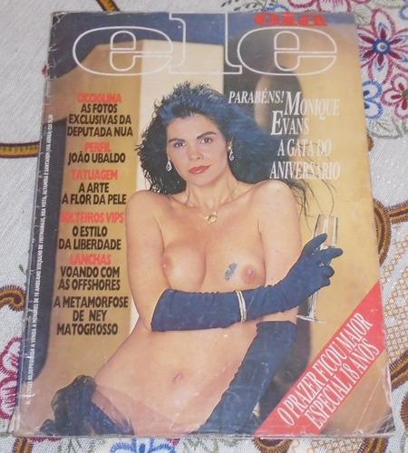 revista ele ela 1987 monique evans playboy rara poster
