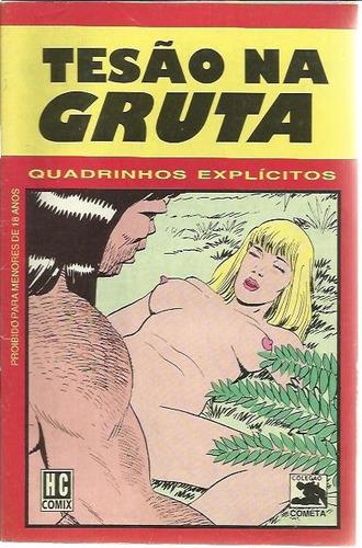 revista em quadrinhos tesão na gruta