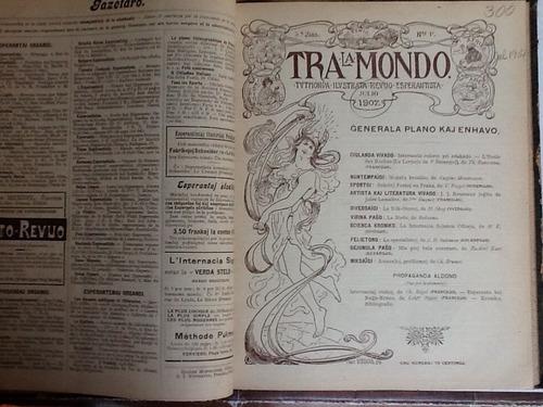 revista esperanto tra la mondo de jul 1905  a  januaro 1907