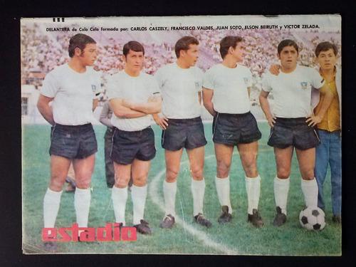 revista estadio n° 1348 1 may 1969 delantera colocolo