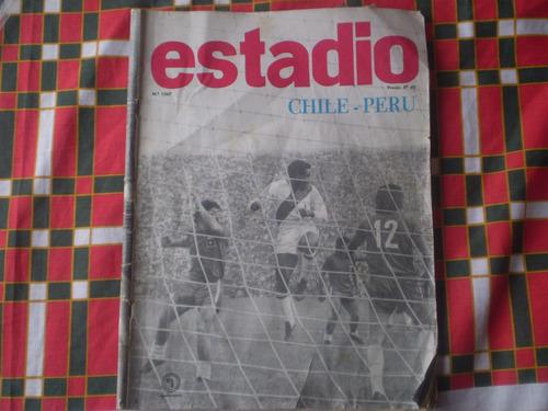 revista estadio  n° 1567  chile peru  7 agosto 1973 (455w