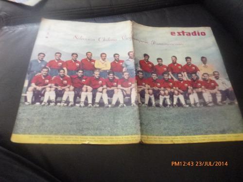 revista estadio n° 468 1952  chile vice campeon pana (461w
