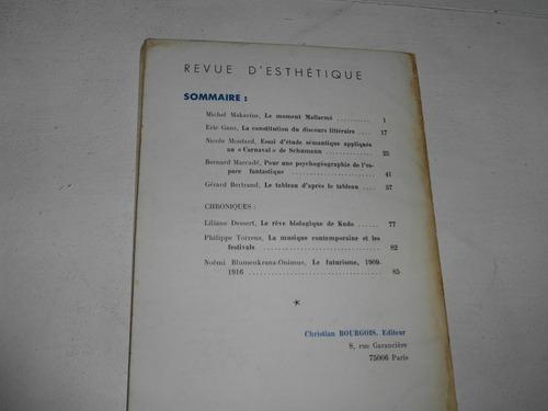 revista estetica revue d'esthetique tome xxvii n°i 1974