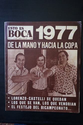 revista   esto es boca  nº  182  3/1/1977