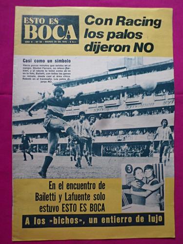 revista esto es boca n° 92 año 1975 boca vs racing