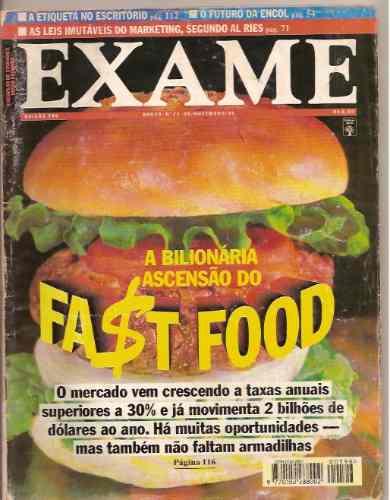 revista exame - a bilionária ascensão do fast food