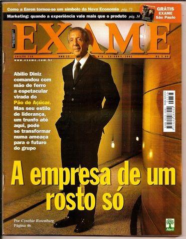 revista exame nº 738 - abr/2001 com anexo ótima - heroishq