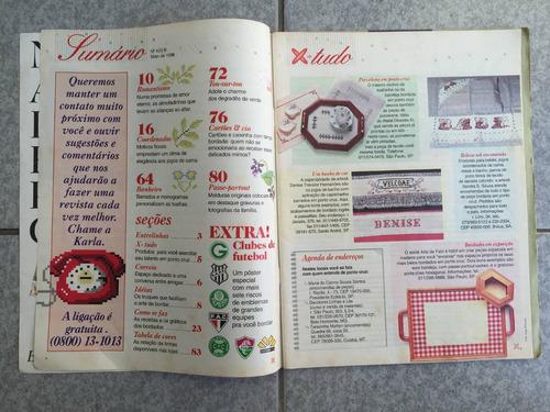 revista fácil-fácil ponto cruz com emblemas de times n°05-b