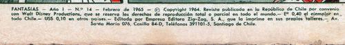 revista fantasías n° 14 publicada en 1965.