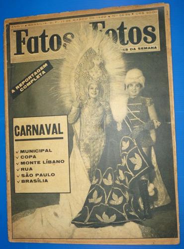 revista fatos & fotos - 17 de março de 1962