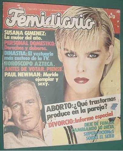 revista femidiario 3 completa c/moldes susana gimenez newman