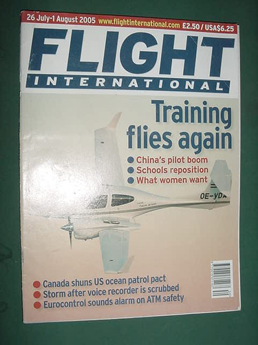 revista flight internat 8/05 importada aviones aviacion