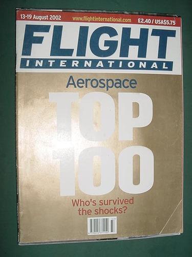 revista flight international 8/02 importada aviones aviacion