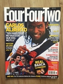 revista four four two - carlos alberto vasco gama - 10/2009