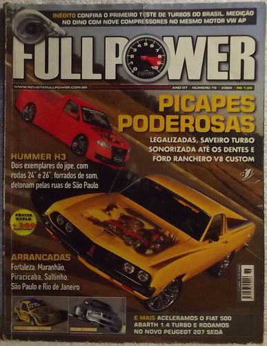 revista fullpower ano 07 nº 76 2008 saveiro triton fiat-500