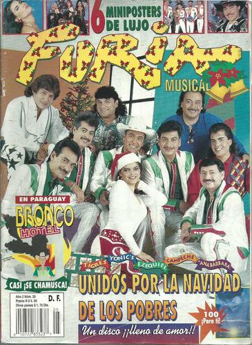 revista furia musical núm.25 portada tigres,yonic's,campeche