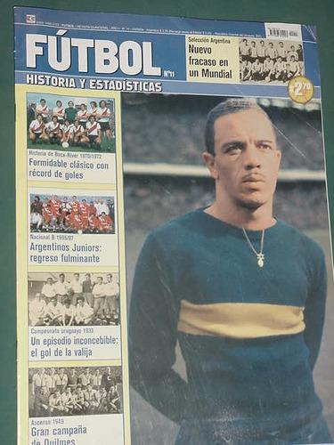 revista futbol 11 -3/9/04- paulo valentim quilmes boca river