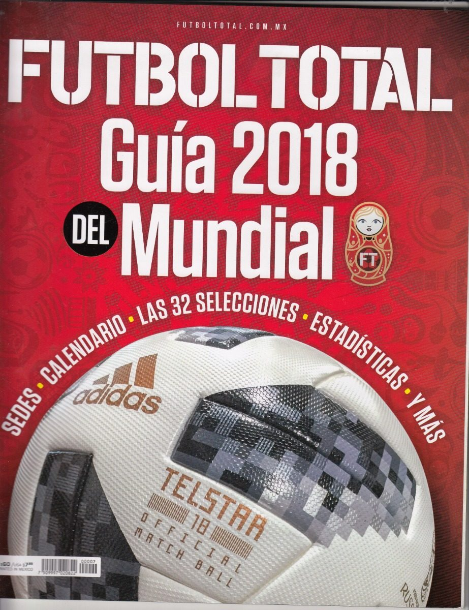 e9585fe509938 Revista Futbol Total Especial Guia Rusia Mundial 2018 -   89.00 en ...