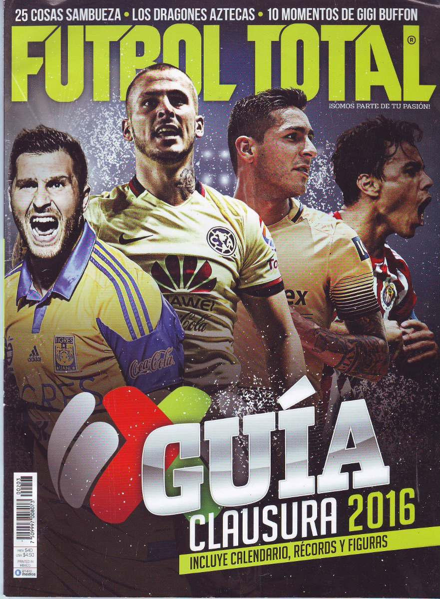 Revista Futbol Total Guia Clausura 2016 Portada Doble -   49.00 en ... 092dd12be9a