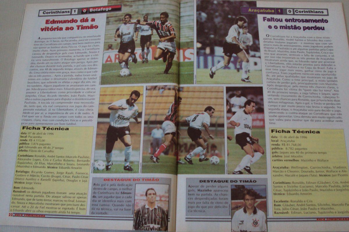 Revista Futebol Raça Corinthiana 7 1996 Campeonato Sp - R  16 57662034e1c49