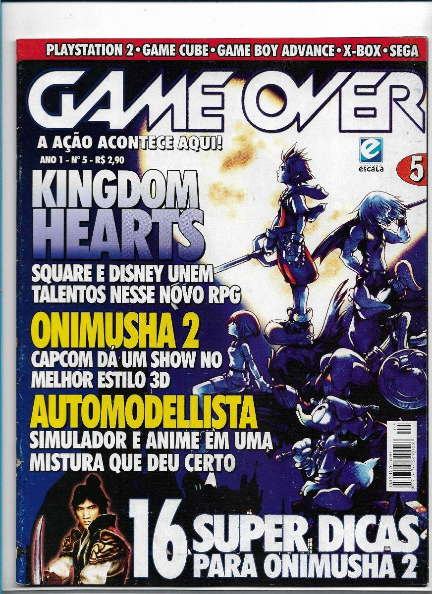 Revista Game Over 5 Kingdom Hearts Onimusha Playstation