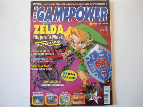 revista game power detonado dino crysis e zelda