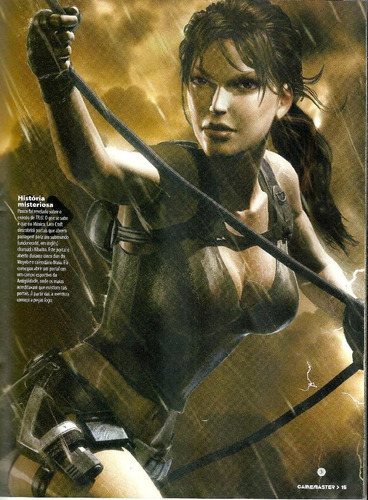 revista gamemaster -tomb raider underworld + poster