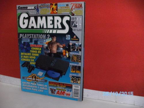 revista gamers ano 6 nº44 plaustation 2 escala- equipe fj