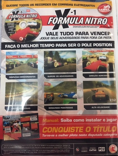 revista games formula x-1 nitro ano1 #9 pc