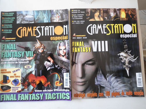 revista gamestation especial final fantasy 7 e 8