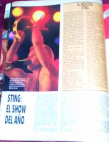 revista gente año 1987 sting en argentina don johnson n 1169