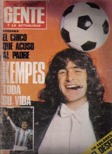 revista / gente y la actualidad / kempes toda su vida / 1978