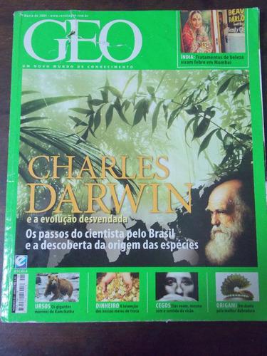 revista geo charles darwin março 2009