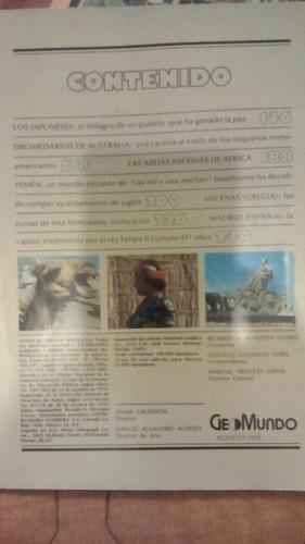 revista geomundo los japoneses dromedarios mecenas yemen mad
