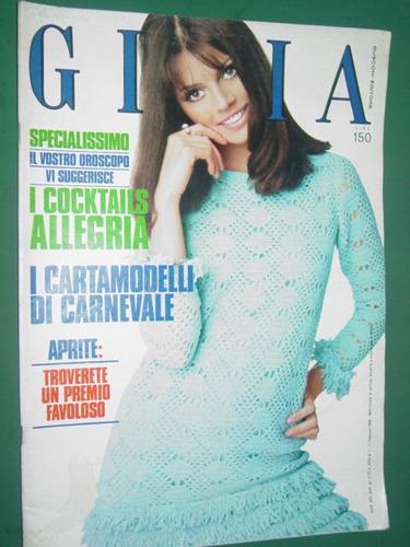 revista gioia 11/69 italia ropa moda costura vintage fashion