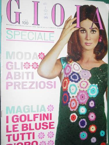 revista gioia 51/65 italia ropa moda costura vintage fashion