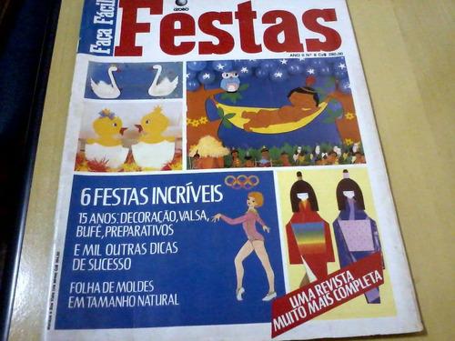 revista globo faça fácil festas nº8 festas incríveis