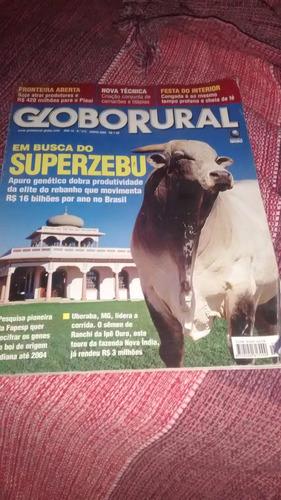 revista globo rural junho 2003 superzebu