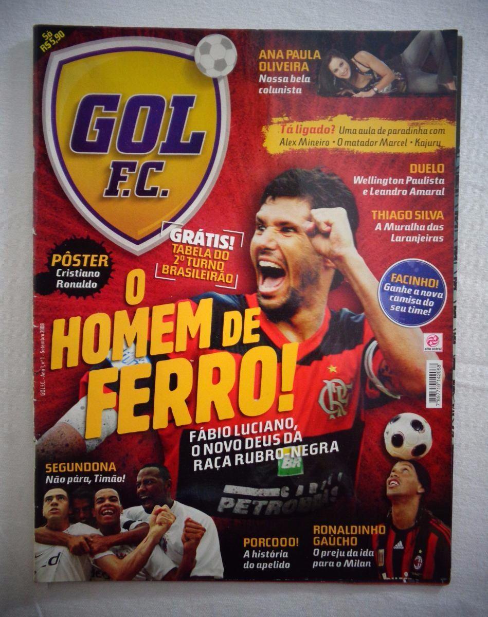c9a28789866c3 Revista Gol F.c Flamengo O Homem De Ferro N°01 2008 - R  28,00 em ...