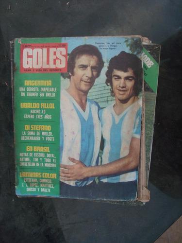 revista goles 1226 4/7/72 fillol artime poster: river comiss