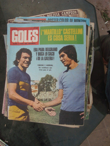 revista goles 1247 28/11/72 poster: echegaray lopez bravo