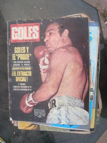 revista goles 1255 23/1/73 contreras poster: rodriguez estud