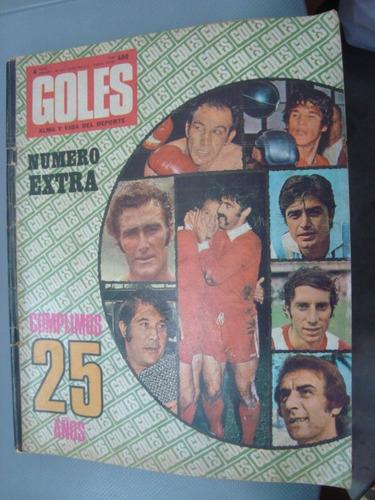 revista goles 1271 15/73 25 años numero extra
