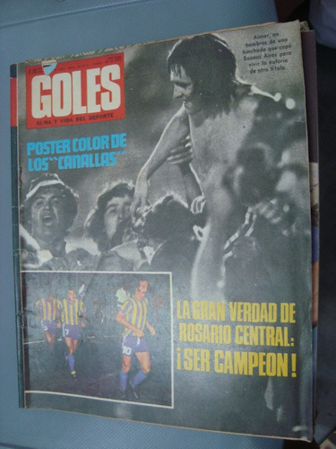 revista goles 1303 1/1/74 rosario campeon extra sin poster